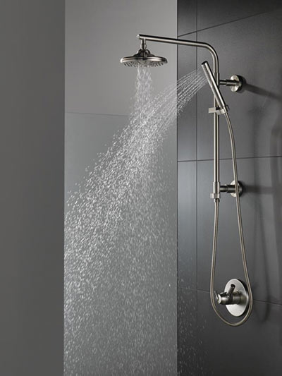 Delta Develops Shower Column For Compact Baths