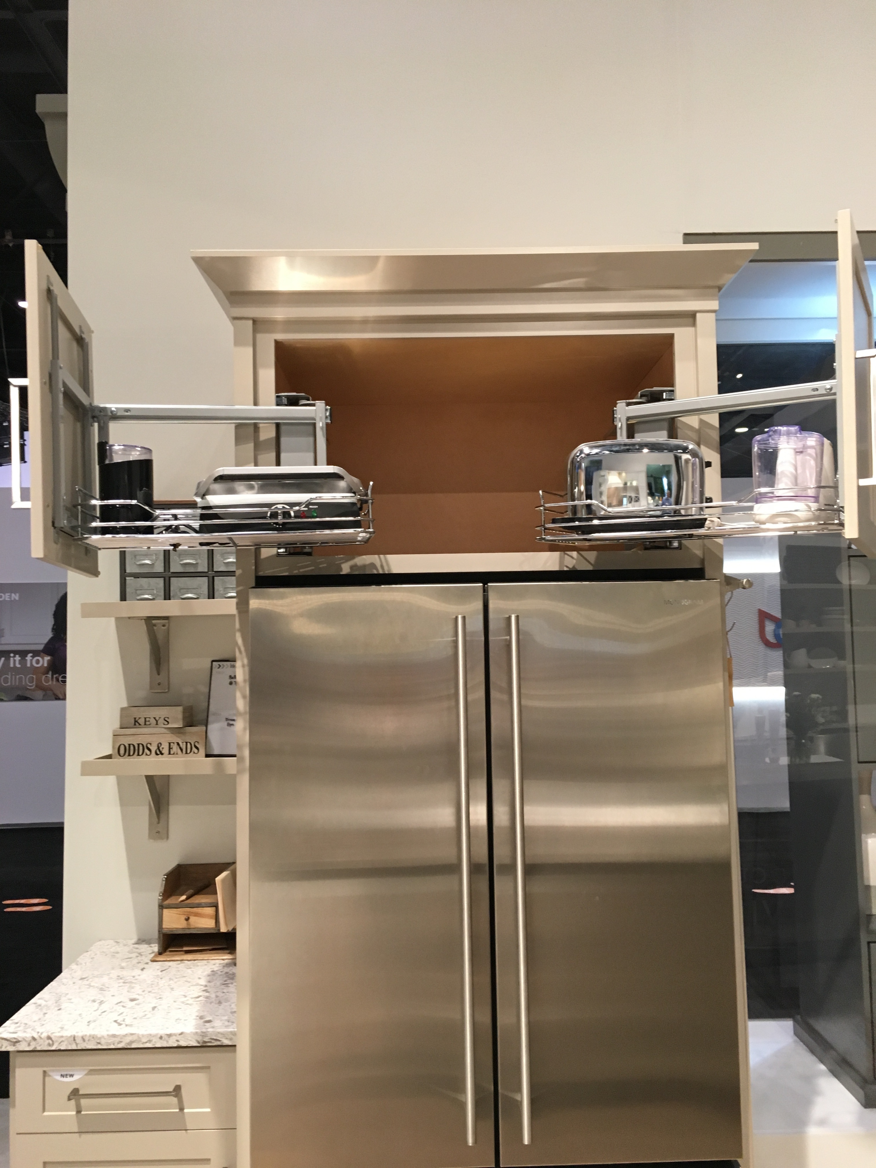 Diamond Debuts Clever Pull Out Wall Refrigerator Cabinet