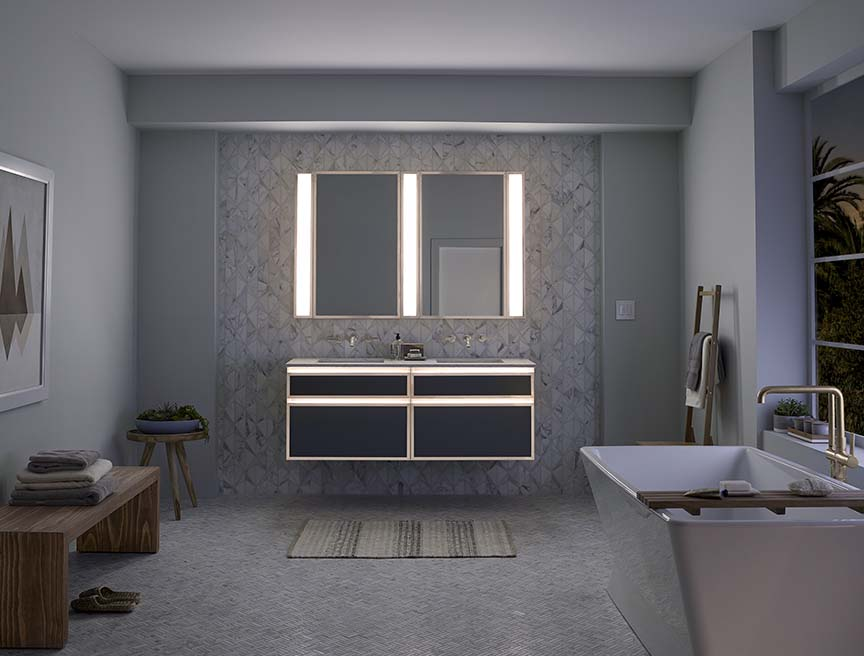 Robern Introduces Lighted Bathroom Collection