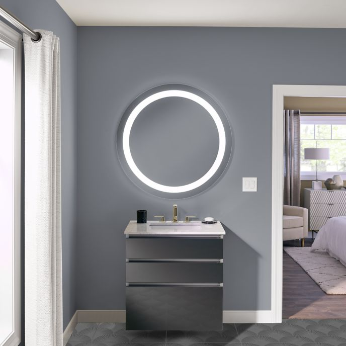 How To Install A Mirror In Bathroom: Robern Introduces Vitality Lighted Bath Mirrors For Budget