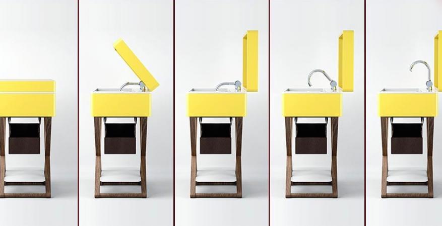 Aquatica MyBag Furniture Vanities yellow