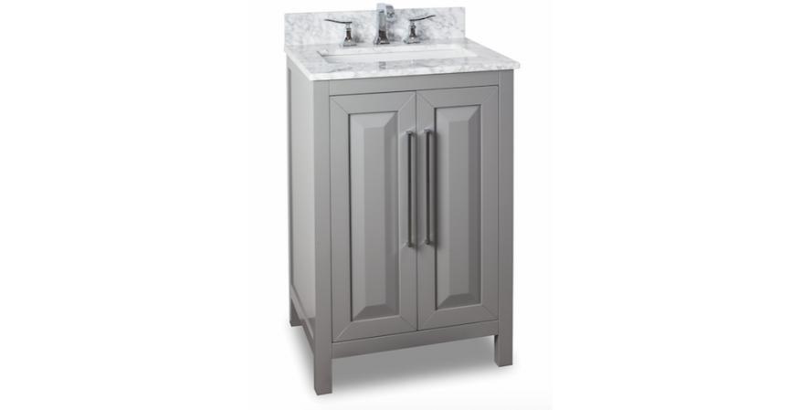 Jeffrey-Alexander-Cade-Contempo-24 inch vanity for small bathroom in gray