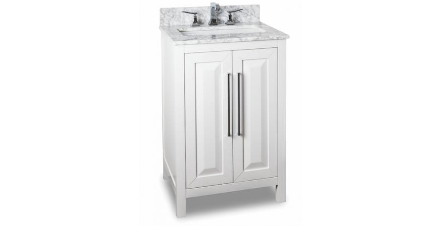 Jeffrey Alexander Cade Contempo 24-inch vanities for small bathroom in white