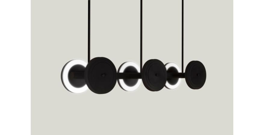 the Royer lighting Collection on the wall