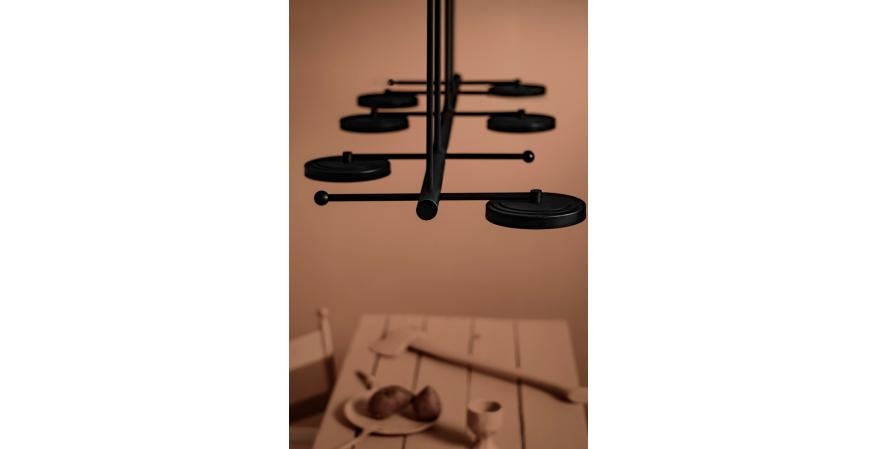 the Royer lighting Collection on the ceiling