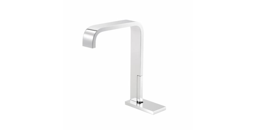 Single-lever sink mixer in chrome