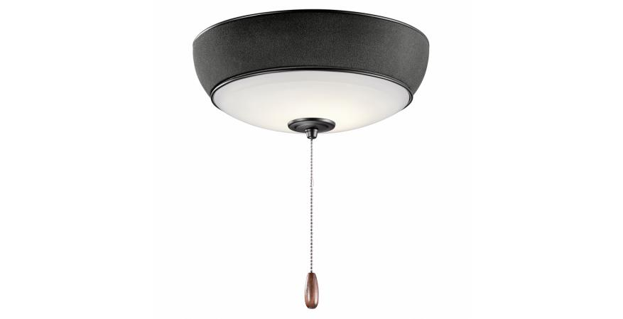 Bluetooth ceiling fan light with black finish from Kichler
