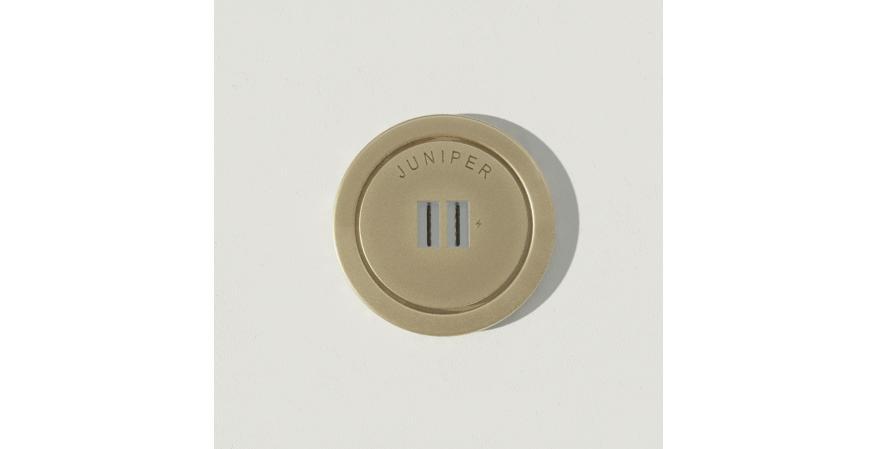 Juniper Ground Control USB outlet brass