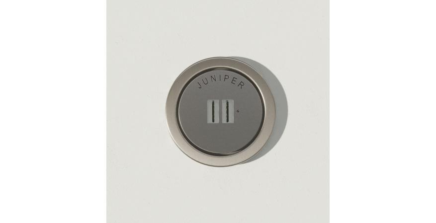 Juniper Ground Control USB outlet nickel