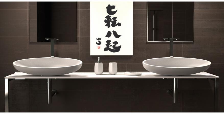 Glass Design bath sink in Kool Bianco