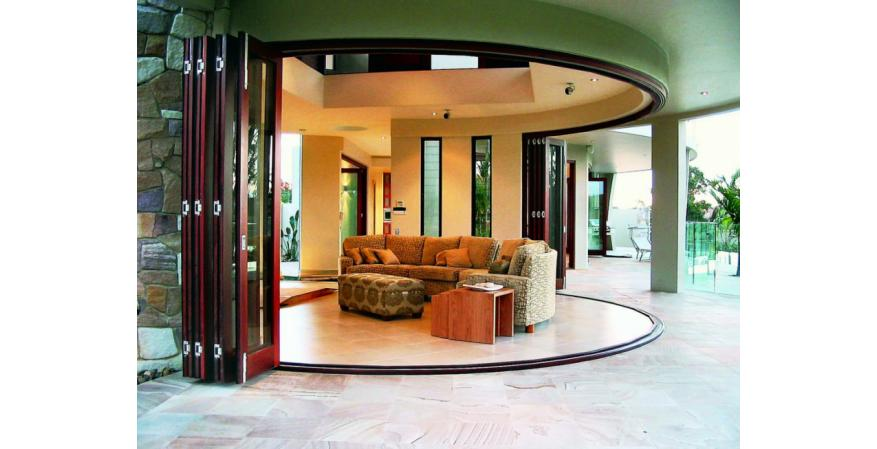 Euro Wall bi-folding patio door