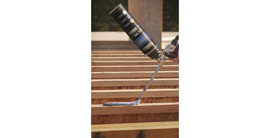 Huber Engineered Woods has unveiled a new polyurethane AdvanTech subfloor adhesive that the company says is an important component of its squeak-free floor assembly system.