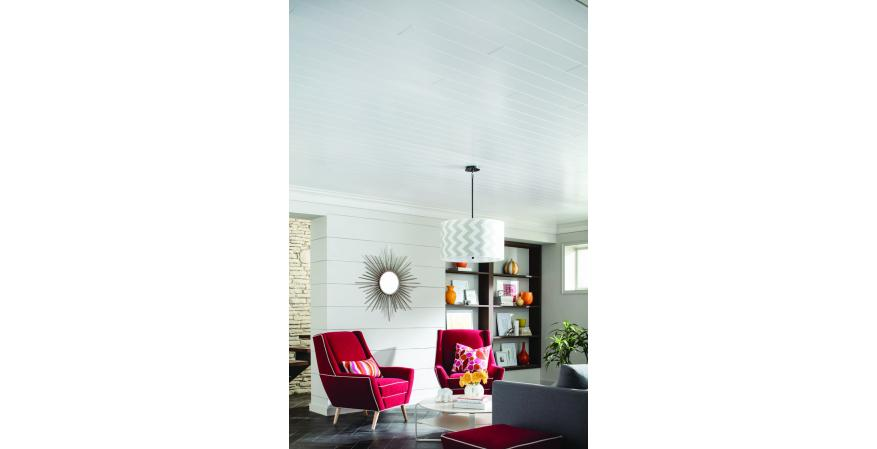 Armstron Woodhaven paintable ceiling plank surfacing