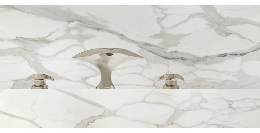 Alex Miller Studio Aurora faucet in nickel.