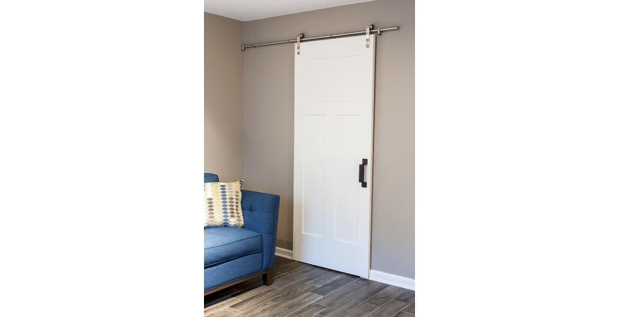 Federal Brace Black Rustic Bar Door handle white interior door