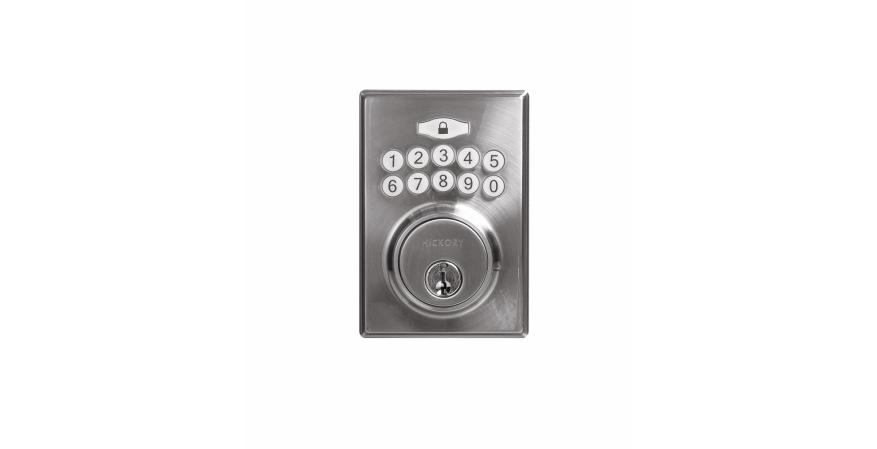 Decorative knobs and pulls company Hickory Hardware has introduced a new electronic keypad deadbolt that allows homeowners to unlock their home with a simple access code.