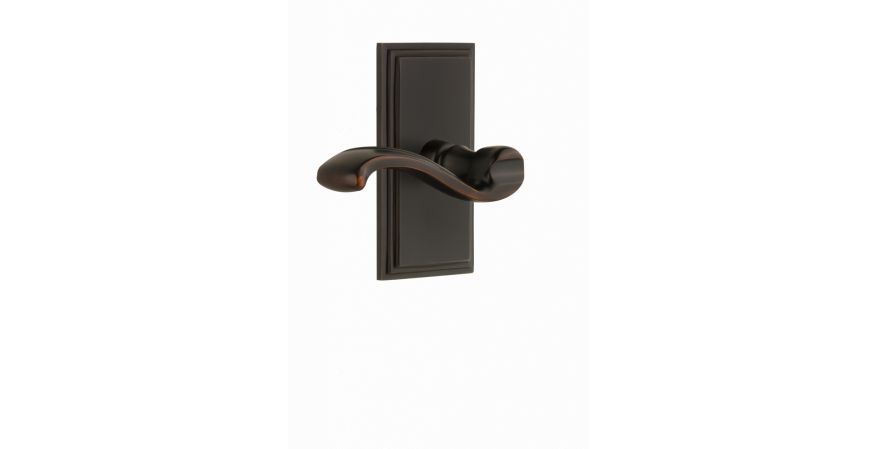 Carré Collection Portofino door lever timeless bronze