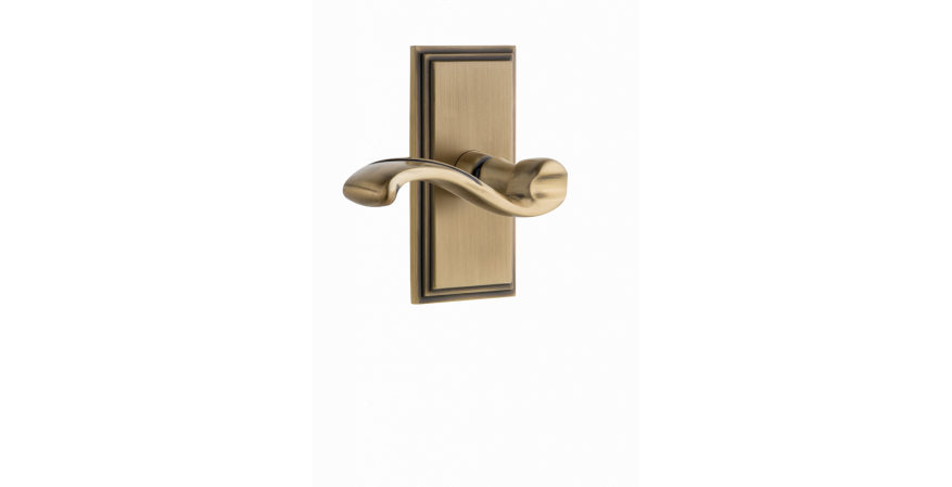Carré Collection Portofino door door lever brass in vintage brass