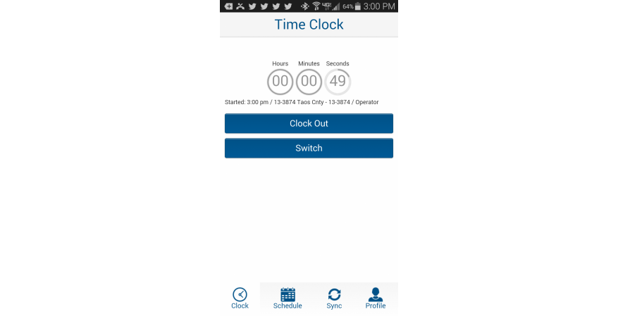 ClockShark app