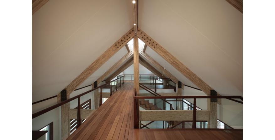 Exposed Engineered Wood Beams Ceiling
