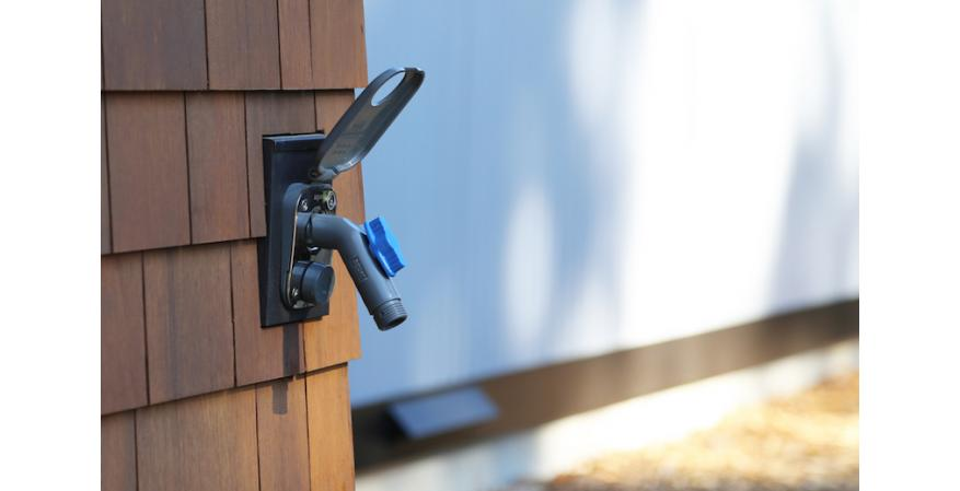 Aquor Water Systems, maker of the House Hydrant in-wall outdoor water system, has introduced a removable faucet that turns the Hydrant into an outdoor tap.