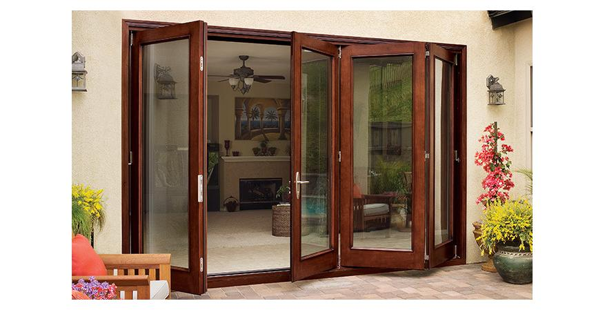 Jeld-Wen bi folding patio door
