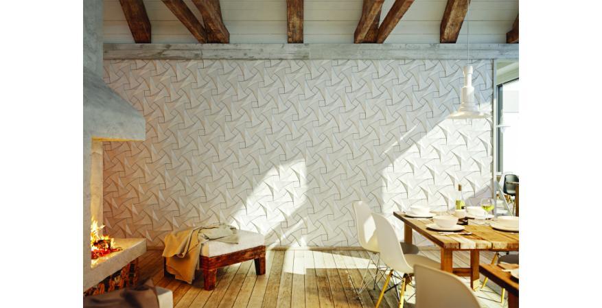 Kaza Concrete Liquid Forms tile surfacing