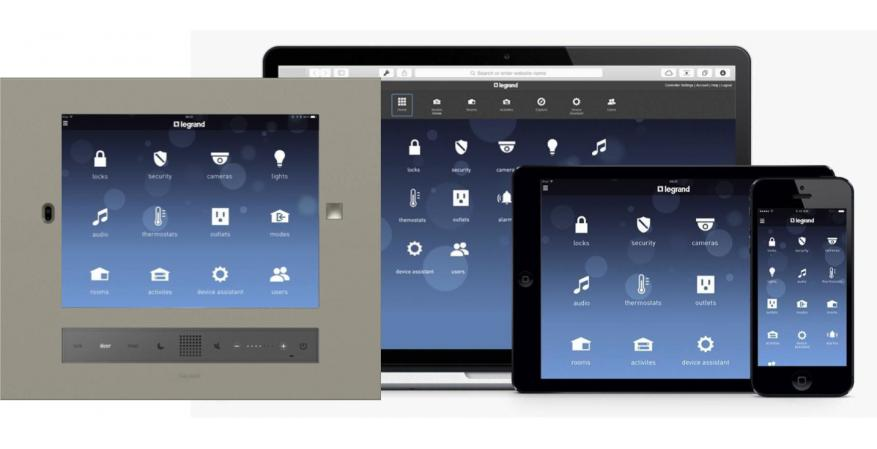 Legrand Intuity Home Automation user interface
