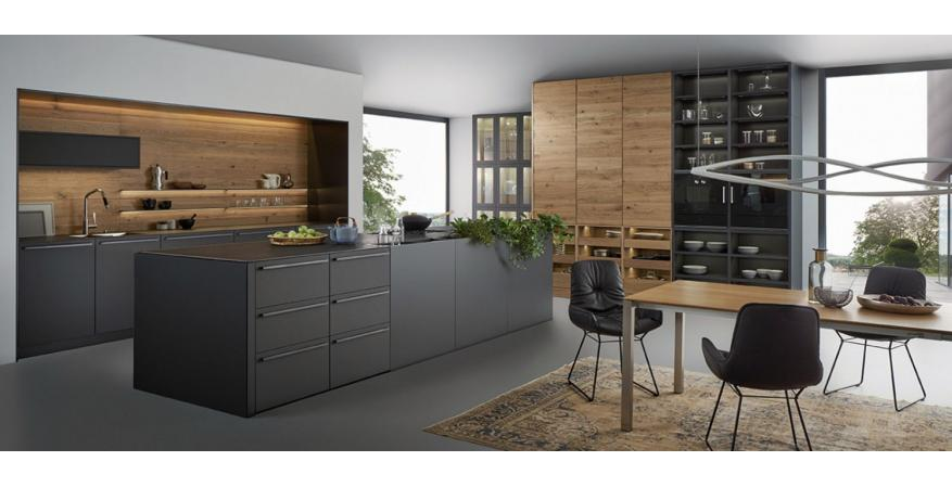 Dark Colored Cabinets From Leicht Cabinets, One Of Several Cabinet Brands