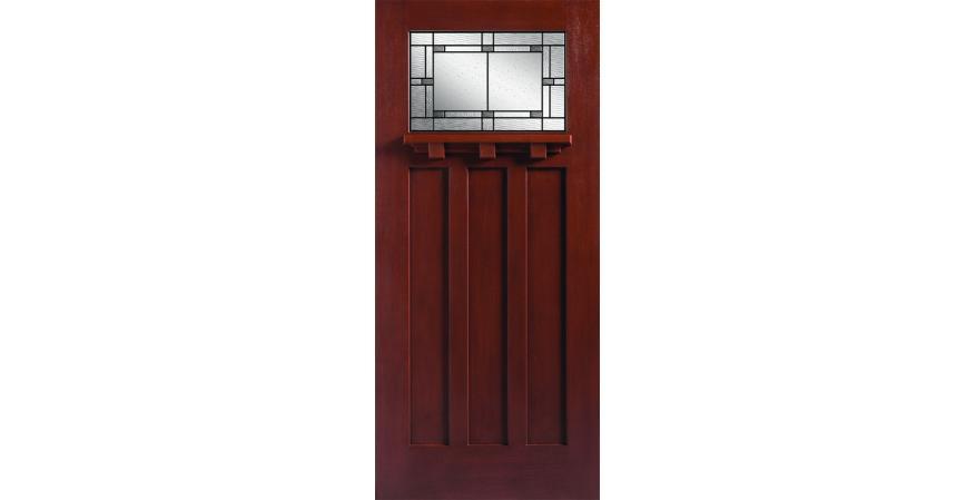 Masonite Barrington fiberglass entry door with Marco glass