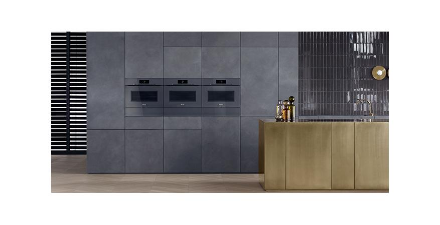 The Miele appliance company has introduced an innovative collection of ovens, steam cookers, and combination units that are completely handle-free.
