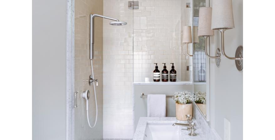 Nebia Spa Shower in bathroom
