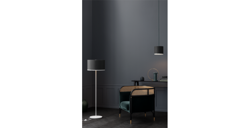Pantone Antares Floor Lamp and Deneb pendant