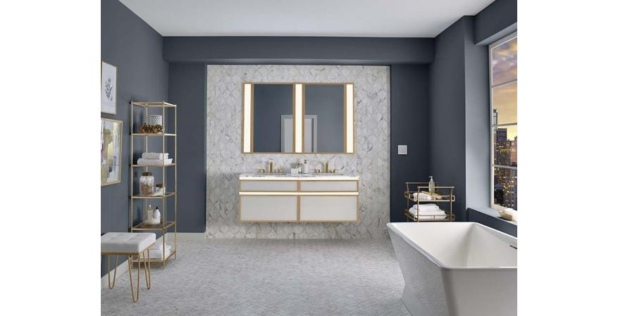 Robern Profiles collection lighted vanity in white
