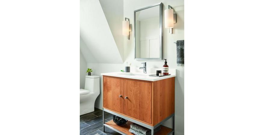 Room and Board Soho bath vanity in Cherry