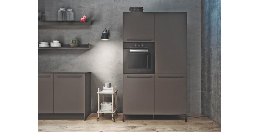 Refridgerator in urban themed kitchen