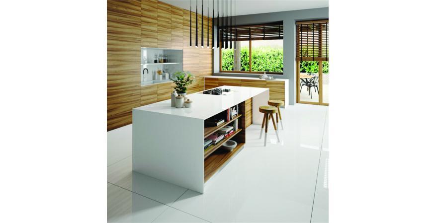 Silestone Iconic White quartz counter surfacing