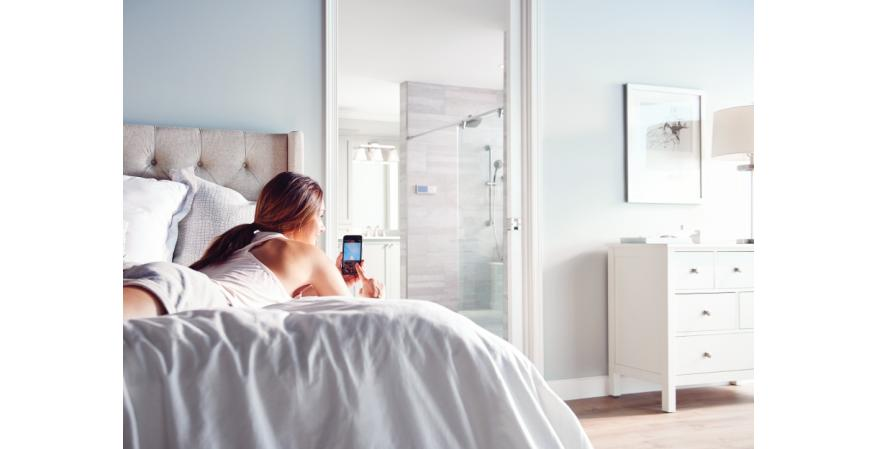 Faucet and plumbing manufacturer Moen has unveiled a digital showering system with Wi-Fi and mobile connectivity that allow users to control and personalize their bathing experience in countless ways.