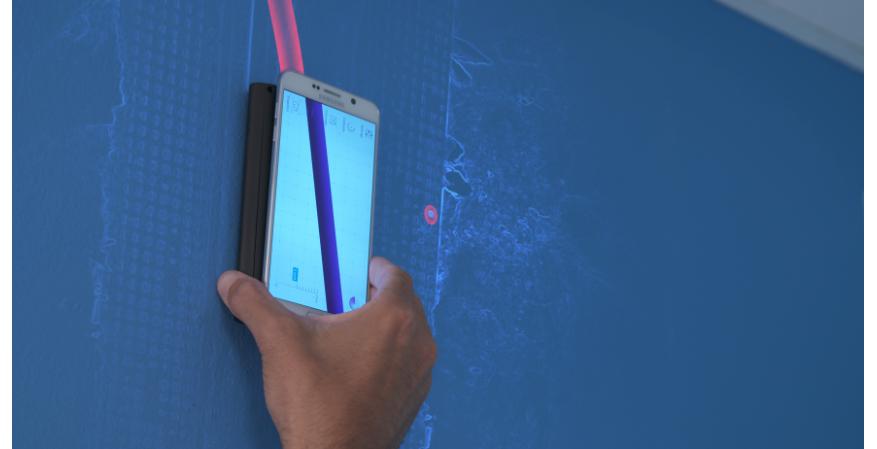 Vayyar Imaging WalabotDIY 3D imaging sensor tool in blue