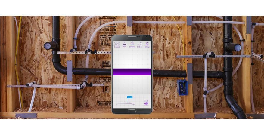 Vayyar Imaging 3D imaging sensor tool showing inside of a wall