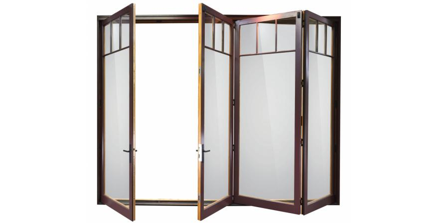 Weather Shield glass bi-fold door