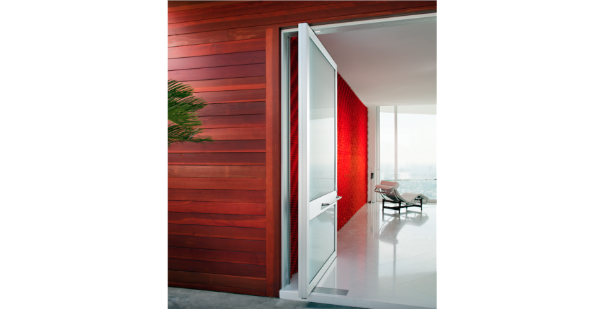 The pivot door by Weiland Sliding Doors.