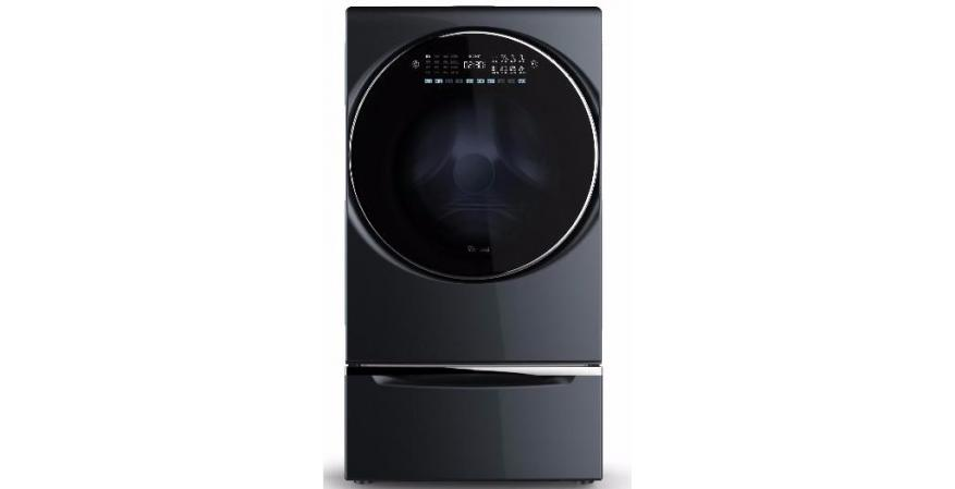 Whirlpool All in one washer Dryer Combo black with pedestal silo