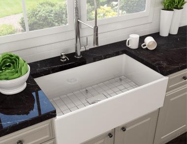 Bocchi contempo farmhouse kitchen sink