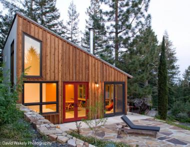 The Russian River Studio is at once rustic and modern, with an innate coziness ideal for its studio functionality and a modern air suitable for gathering.