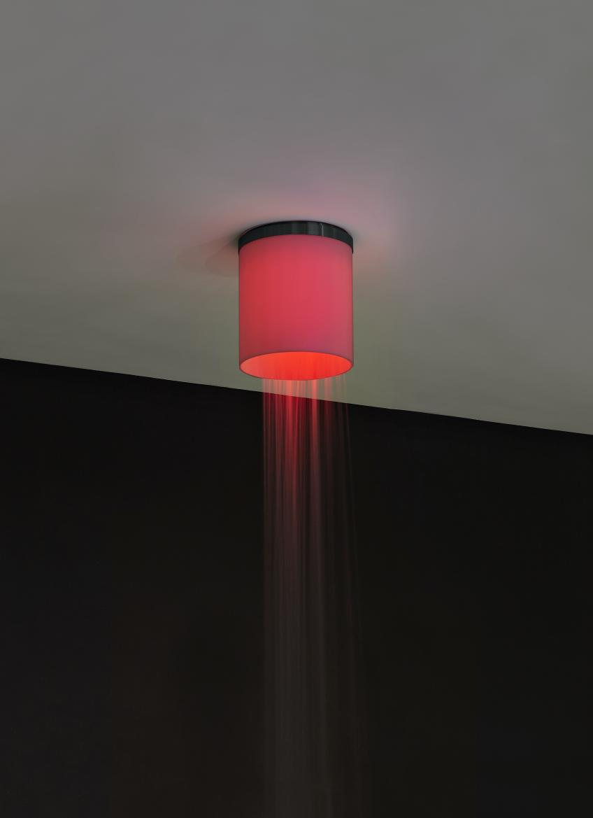 Showerhead with embedded red LED light from Antonio Lupi