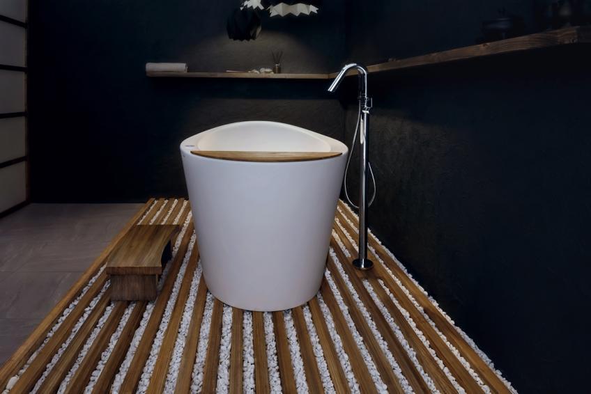 Aquatica Heated Solid Surface Japanese Tub