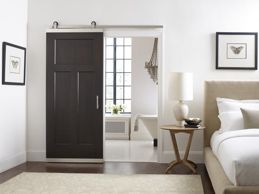 Jeld Wen DesignGlide Barn Door Hardware Craftsman Door Open