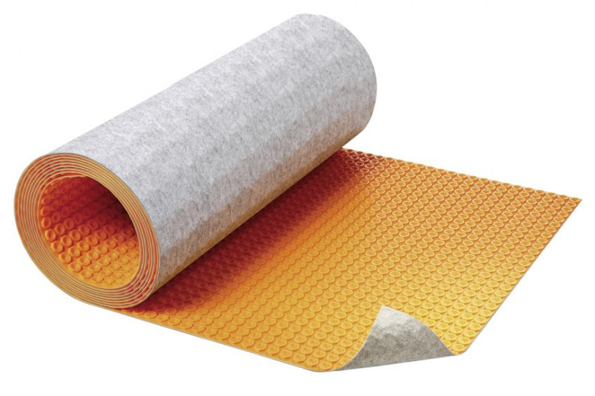 The manufacturer has updated its Ditra Heat product by adding a thin thermal break on the underside of the membrane, allowing the system to warm tiled floors up to 70 percent faster over concrete substrates. The first electric floor warming system with an integrated thermal break, the product directs heat to the tile, not to the subfloor. Like the old Ditra, TB is an all-in-one system that includes the membrane, heating cables, and thermal break in a single layer.