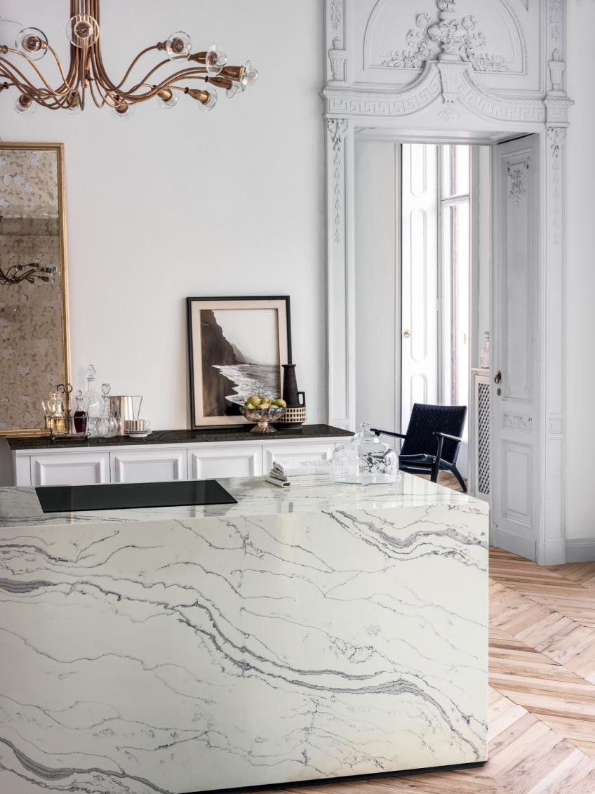 Dupont Corian Quartz White Marble Kitchen